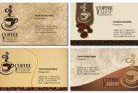 Photoshop Coffee Business Cards Design regarding Coffee Business Card Template Free