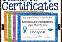 Pin On | 5Th Grade | inside 5Th Grade Graduation Certificate Template