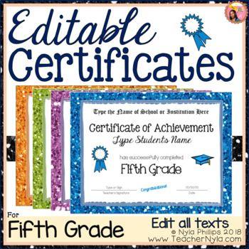 Pin On | 5Th Grade | Inside 5Th Grade Graduation Certificate Template