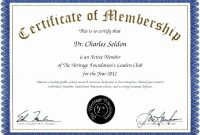 Pin On Certificate Customizable Design Templates in New Member Certificate Template