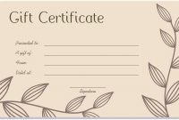 Pin On Certificate Customizable Design Templates intended for Massage Gift Certificate Template Free Download
