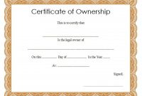 Pin On Certificate Of Ownership 1 regarding Ownership Certificate Template