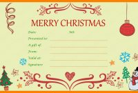 Pin On Certificate Templates inside Merry Christmas Gift Certificate Templates