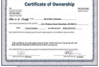 Pin On Certificate Templates pertaining to Ownership Certificate Template