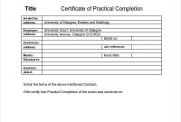 Pin On Certificate Templates regarding Practical Completion Certificate Template Uk