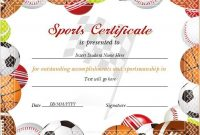Pin On Certificate Templates throughout Sports Award Certificate Template Word