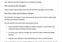 Pin On The Best Sample Templates regarding Small Business Policy And Procedures Manual Template