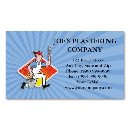 Plaster Masonry Worker Cartoon Business Card | Zazzle With Regard To Plastering Business Cards Templates