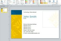 Powerpoint Business Card Template | The Highest Quality pertaining to Business Card Template Powerpoint Free