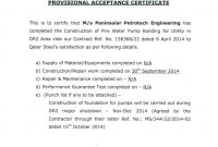 Practical Completion Certificate Template Uk (4) – Templates inside Practical Completion Certificate Template Uk