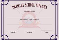 Primary School Certificate Template | School Certificates with regard to Certificate Templates For School