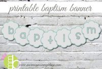 Printable Baptism Banner In Blue | Mormon Mommy Printables intended for Christening Banner Template Free