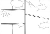 Printable Blank Comic Strip Template For Kids Unique 7 Best inside Printable Blank Comic Strip Template For Kids
