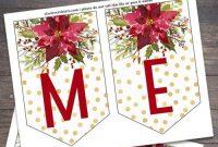 Printable Christmas Banner | Christmas Banner Printable intended for Merry Christmas Banner Template