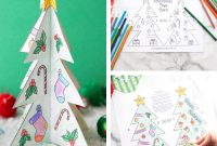 Printable Christmas Tree Template | Little Bins For Little Hands throughout 3D Christmas Tree Card Template
