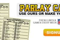 Printable Custom Parlay Cards – Parlay Cards Now regarding Football Betting Card Template