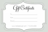 Printable Fillable Gift Certificate Template Custom with Custom Gift Certificate Template