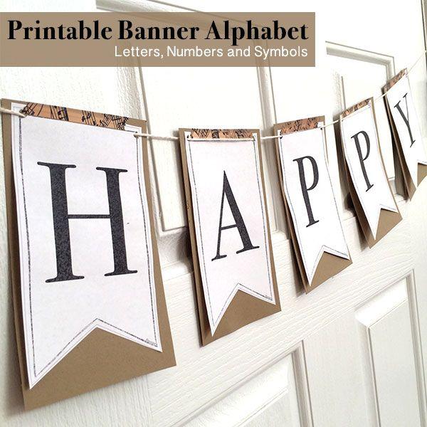 Printable Full Alphabet For Banners | Diy Birthday Banner intended for Printable Letter Templates For Banners