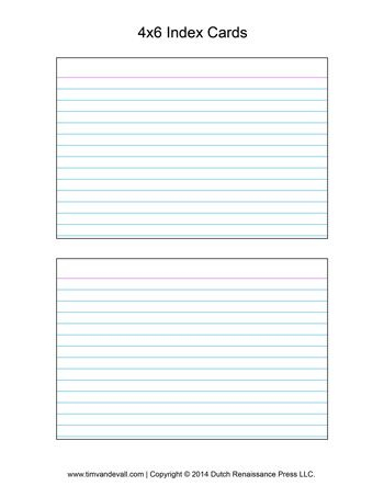 Printable Index Card Templates: 3X5 And 4X6 Blank Pdfs with regard to 4X6 Note Card Template Word
