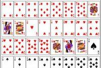 Printable Mini Playing Cards | Printable Playing Cards with Template For Playing Cards Printable