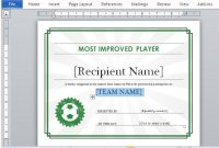 Printable Sports Certificate Template For Word in Sports Award Certificate Template Word
