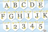 Printable Yellow Flowers Banner Template, Bridal Shower Banner, Mothers Day  Garland, Baby Shower Bunting, Spring Flowers Mother's Day Gift intended for Bridal Shower Banner Template