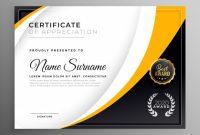 Professional Certificate Template Diploma Award Design inside Award Certificate Design Template