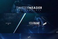 Professional Gaming Twitter Header Templatelastzak For inside Twitter Banner Template Psd