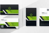 Professional Green Modern Business Card Template Set | Free for Modern Business Card Design Templates
