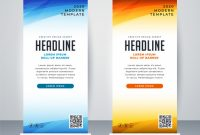 Professional Roll Up Stand Banner Template Design | Free Vector intended for Banner Stand Design Templates
