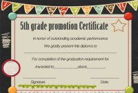 Promotion Certificate 5Th Grade – Google Search | Graduation inside 5Th Grade Graduation Certificate Template