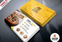 Psd Restaurant Business Card Design Templatespsd regarding Food Business Cards Templates Free