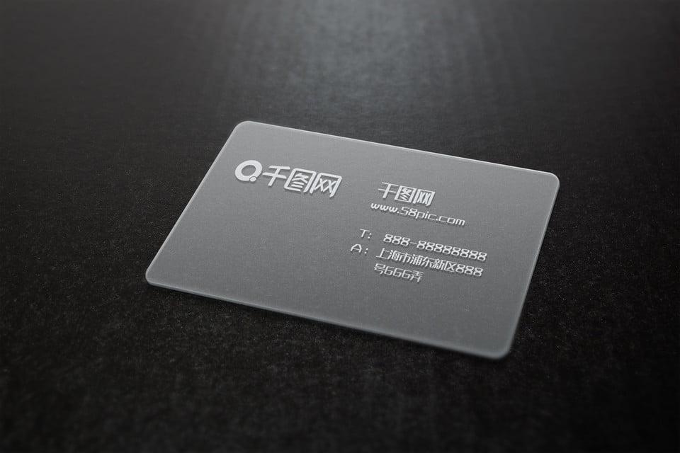 Pvc Transparent Business Card Renderings Template Pvc Pertaining To Transparent Business Cards Template