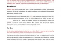 Realtor Business Plan Mplate This Free Real Estate Proposal within Free Real Estate Agent Business Plan Template