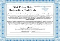 Records Disposal Checklist | Process Street For Certificate Of Disposal Template
