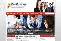 Red Business Blogger Template 2014 Free Download Blogger pertaining to Free Blogger Templates For Business