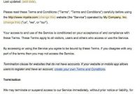 Sample Terms And Conditions Template - Termsfeed intended for Terms And Conditions Of Business Free Templates