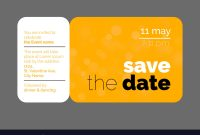 Save The Date Wedding Invitation Card with regard to Save The Date Business Event Templates