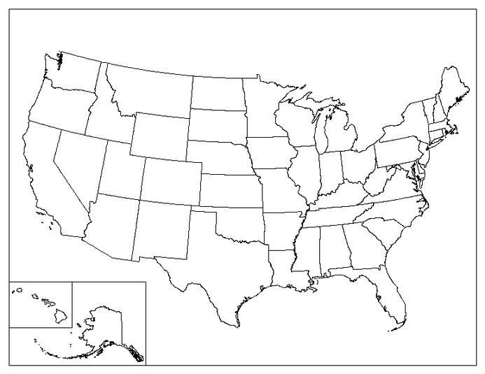 Scaricare | United States Map, Us State Map, U.s. States in United States Map Template Blank