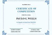 School Competition Certificate | Free School Competition intended for Certificate Templates For School