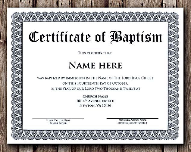 Selecting Certificate Template Word Online For Diy with regard to Baptism Certificate Template Word
