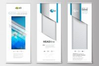 Set Of Roll Up Banner Stands, Flat Design Templates for Banner Stand Design Templates