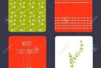 Set Of Winter Small Card Templates. Collection For Christmas in Small Greeting Card Template