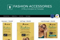 Shopping & E-Commerce | Fashion Accessories Animated Banner with regard to Animated Banner Templates