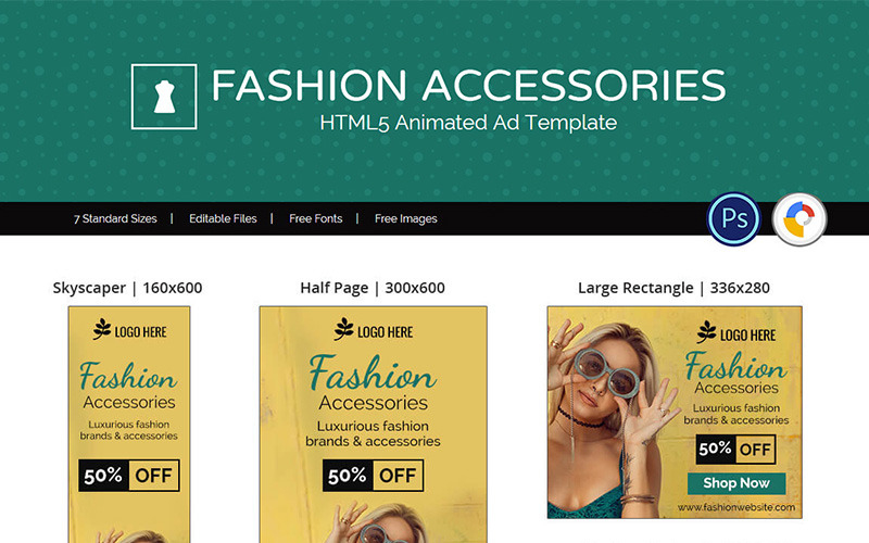 Shopping & E Commerce | Fashion Accessories Animated Banner With Regard To Animated Banner Templates