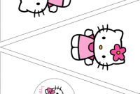 Simple Cute Hello Kitty Free Printable Kit. (With Images regarding Hello Kitty Birthday Banner Template Free