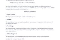 Simple One Page Lease Agreement Template – Pdf Templates within Business Lease Agreement Template Free
