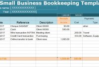Small Business Bookkeeping Template Spreadsheet intended for Accounting Spreadsheet Templates For Small Business