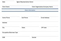 Small Business Client Intake Form inside Business Information Form Template