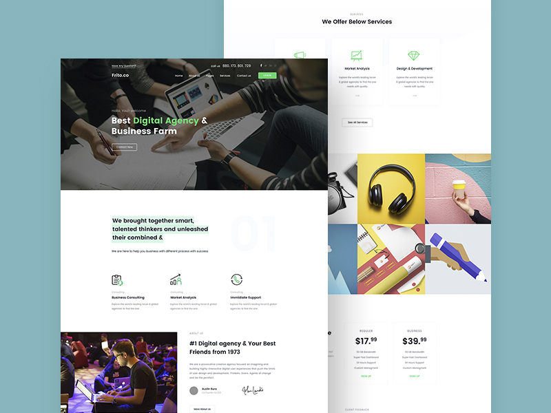 Small Business Website Template | Free Psd Template | Psd Repo pertaining to Website Templates For Small Business